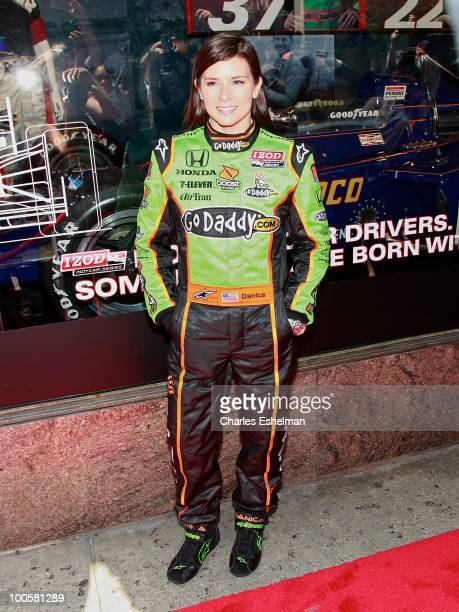 IndyCar racing driver Dancia Patrick attends Macy's and IZOD's celebration of the Indianapolis Motor Speedway and the Indy 500 at Macy's Herald...