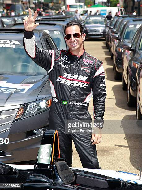 IndyCar racing driver Helio Castroneves attends Macy's and IZOD's celebration of the Indianapolis Motor Speedway and the Indy 500 at Macy's Herald...