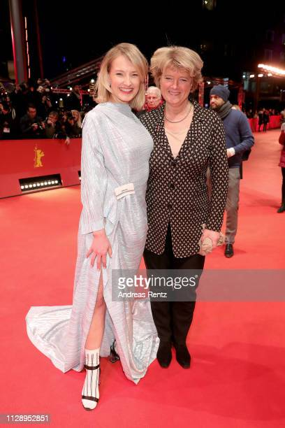 Ine Marie Willmann and Monika Gruetters pose at the European Shooting Stars 2019 ceremony and Vice premiere during the 69th Berlinale International...