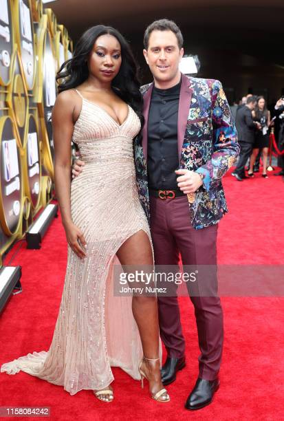 Inem Akpan and Adam Lefkoe attend the 2019 NBA Awards presented by Kia on TNT at Barker Hangar on June 24 2019 in Santa Monica California