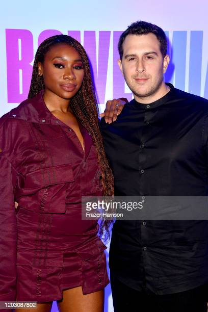 Inem Akpan and Adam Lefkoe attend the EA Sports Bowl at Bud Light Super Bowl Music Fest on January 30 2020 in Miami Florida