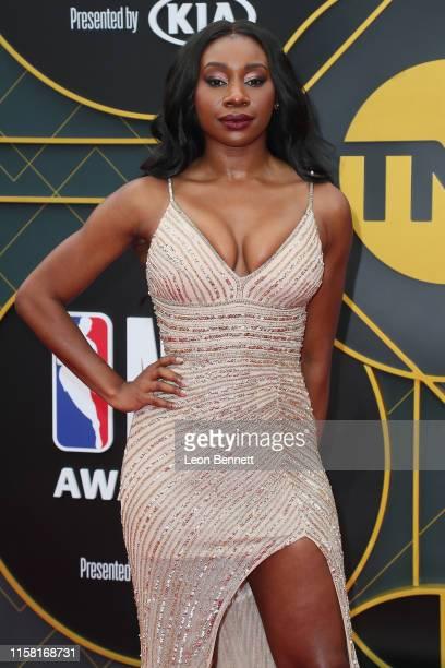 Inem Akpan attends 2019 NBA Awards at Barker Hangar on June 24 2019 in Santa Monica California