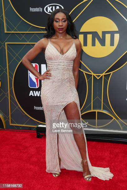 Inem Akpan attends 2019 NBA Awards at Barker Hangar on June 24 2019 in Santa Monica California