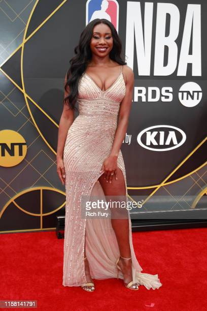 Inem Akpan attends the 2019 NBA Awards at Barker Hangar on June 24 2019 in Santa Monica California