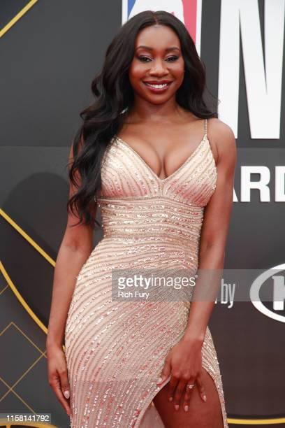 Inem Akpan attends the 2019 NBA Awards at Barker Hangar on June 24 2019 in Santa Monica California