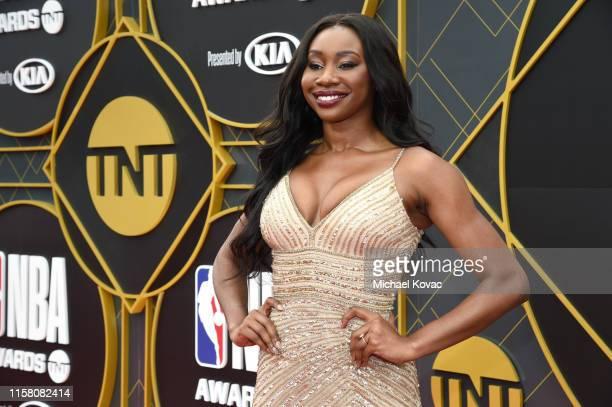 Inem Akpan attends the 2019 NBA Awards presented by Kia on TNT at Barker Hangar on June 24 2019 in Santa Monica California