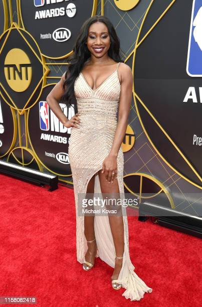 Inem Akpan attends the 2019 NBA Awards presented by Kia on TNT at Barker Hangar on June 24 2019 in Santa Monica California