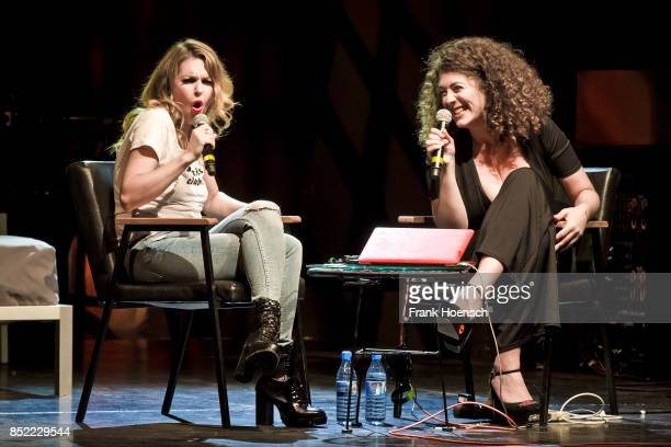 Ines Anioli and Leila Lowfire perform live on stage during their Show 'Sexvergnuegen' at the Columbia Theater on September 21 2017 in Berlin Germany