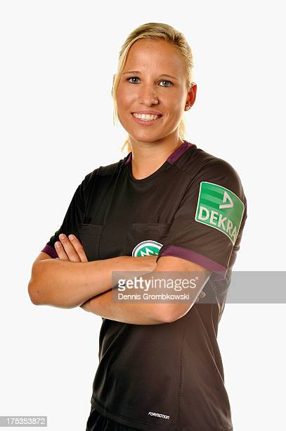 Ines Appelmann poses during the Women's DFB Referee Team Presentation at DEKRA Congress Center Wart on August 2 2013 in Altensteig Germany
