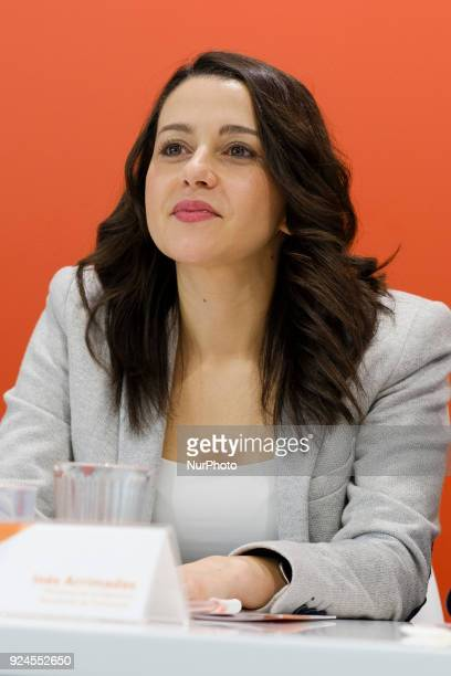 Ines Arrimadas during the Meeting of the National Executive Committee in Madrid Spain February 26 2018