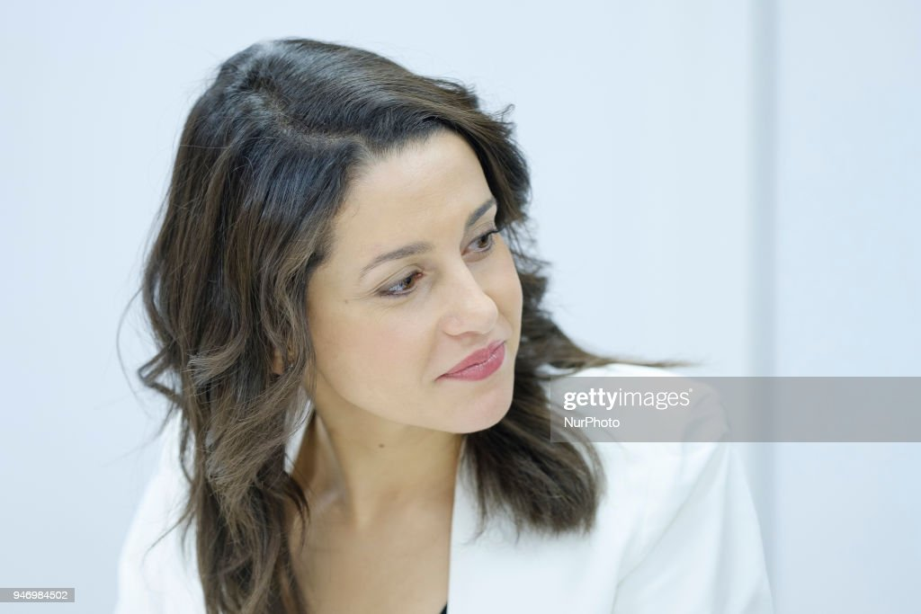 Ines Arrimadas, president of the Parliamentary Group of the political party of Ciudadanos, during the Meeting of the National Executive Committee in Madrid. Spain. April 16, 2018