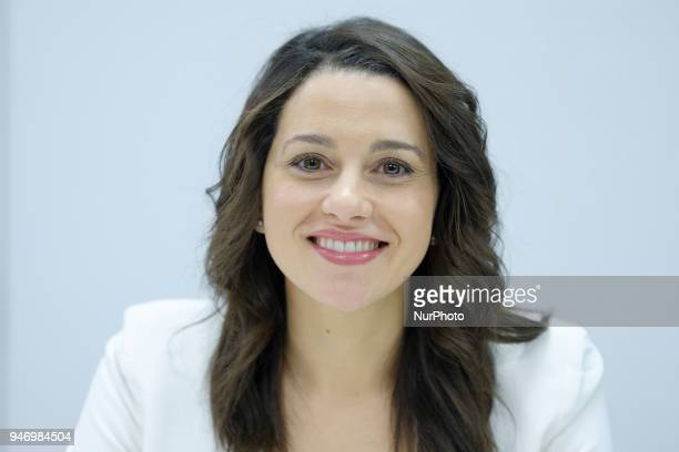 Ines Arrimadas president of the Parliamentary Group of the political party of Ciudadanos during the Meeting of the National Executive Committee in...