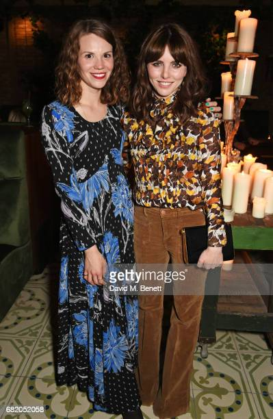 Ines De Clercq and Ophelia Lovibond attend the launch of The Curtain in Shoreditch on May 11 2017 in London England