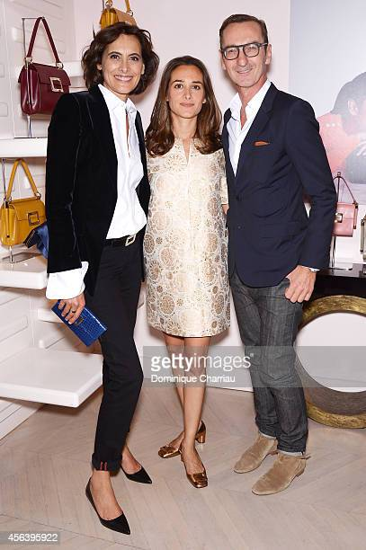Ines de la Fressange Ambra Medda and Bruno Frisoni attend Roger Vivier Cocktail Event Honouring Ambra Medda as part of Paris Fashion Week Womenswear...