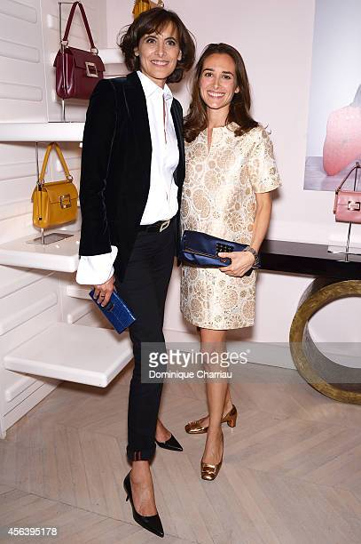 Ines de la Fressange and Ambra Medda attend Roger Vivier Cocktail Event in her honour as part of Paris Fashion Week Womenswear Spring/Summer 2015 in...