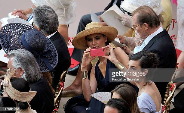 Ines de la Fressange and daughter Nine attend the religious ceremony of the Royal Wedding of Prince Albert II of Monaco to Charlene Wittstock in the...