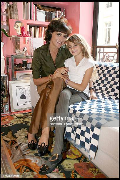 Ines De La Fressange and daughter Violette at Roger Vivier A Princess To Be A Queen Collection