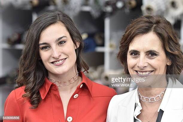 Ines de La Fressange and her daughter Nine d'Urso attending the Chanel Haute Couture Fall/Winter 20162017 show as part of Paris Fashion Week on July...