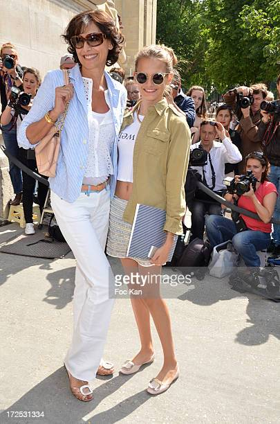 Ines De La Fressange and her daughter Violette d' Urso attend the Chanel show as part of Paris Fashion Week HauteCouture Fall/Winter 20132014 at the...