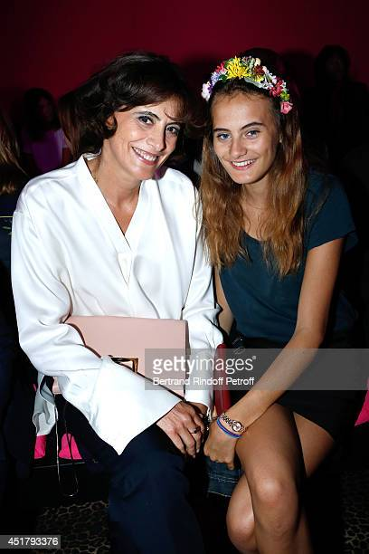 Ines de la Fressange and her daughter Violette d'Urso attend the Schiaparelli show as part of Paris Fashion Week Haute Couture Fall/Winter 20142015...