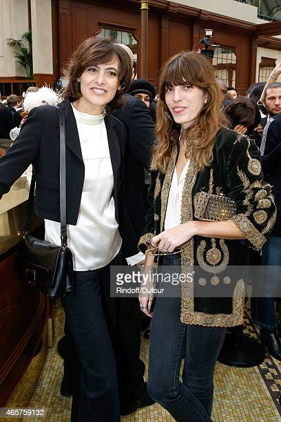 Ines de la Fressange and Lou Doillon attend the Chanel show as part of the Paris Fashion Week Womenswear Fall/Winter 2015/2016 on March 10 2015 in...