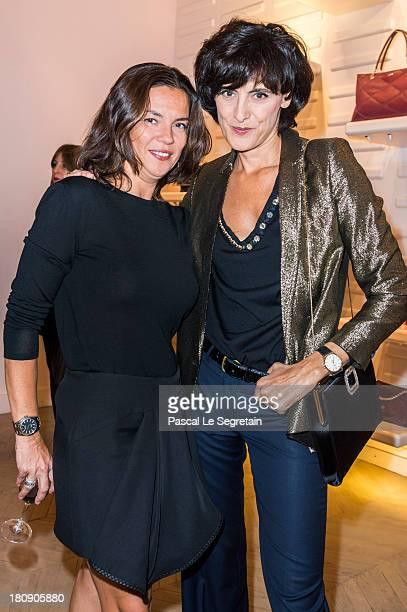 Ines de la Fressange and Sabine Brunner General Manager of Roger Vivier attend the Vogue Fashion Night Out at boutique Roger Vivier on Faubourg...