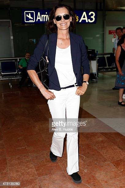 Ines de La Fressange arrives at Nice Airport ahead of The 68th Annual Cannes Film Festival on May 13 2015 in Nice France