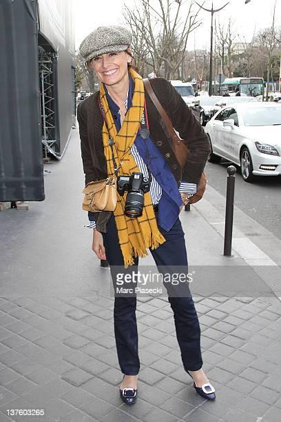 Ines de la Fressange arrives for the Dior HauteCouture 2012 show as part of Paris Fashion Week as part of Paris Fashion Week at Salons Christian Dior...
