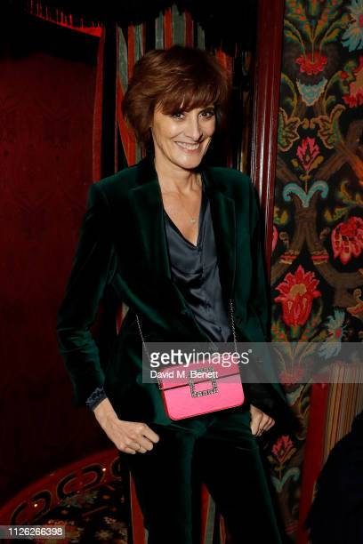 Ines de La Fressange attends Roger Vivier London New Bond Street Opening Cocktails and Dinner at Loulou's on January 30 2019 in London England