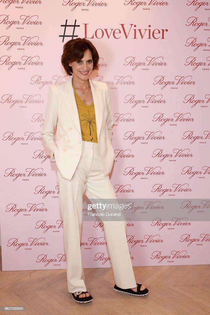 Ines de la Fressange attends Roger Vivier '#LoveVivier' Book Launch Cocktail on May 24, 2018 in Paris, France.