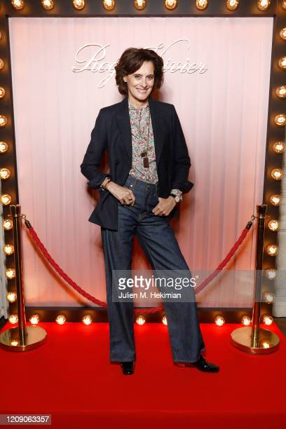 Ines de la Fressange attends Sensorama Vivier the Roger Vivier press day at Fondation Cino et Simone del Duca during Paris Fashion Week Womenswear...