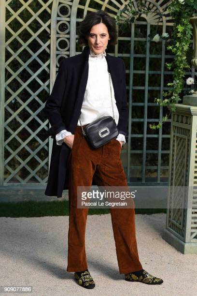 Ines de la Fressange attends the Chanel Haute Couture Spring Summer 2018 show as part of Paris Fashion Week on January 23 2018 in Paris France
