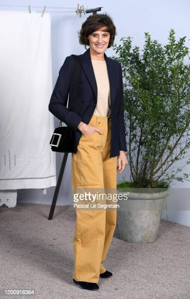 Ines de la Fressange attends the Chanel Haute Couture Spring/Summer 2020 show as part of Paris Fashion Week at Grand Palais on January 21, 2020 in...