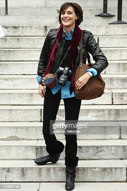 Ines de la Fressange attends the Chanel Haute-Couture Spring/Summer 2012 Show as part of Paris Fashion Week at Grand Palais on January 24, 2012 in...