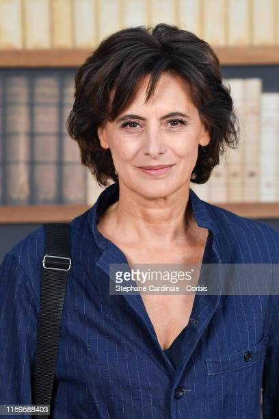 Ines De La Fressange attends the Chanel photocall as part of Paris Fashion Week Haute Couture Fall Winter 2020 at Grand Palais on July 02 2019 in...
