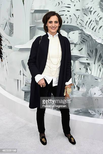 Ines de La Fressange attends the Chanel show as part of Paris Fashion Week Haute Couture Spring/Summer 2015 on January 27 2015 in Paris France