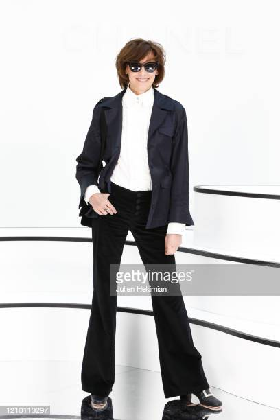 Ines de la Fressange attends the Chanel show as part of the Paris Fashion Week Womenswear Fall/Winter 2020/2021 on March 03 2020 in Paris France