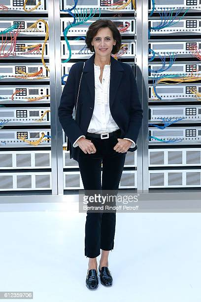 Ines de la Fressange attends the Chanel show as part of the Paris Fashion Week Womenswear Spring/Summer 2017 on October 4 2016 in Paris France