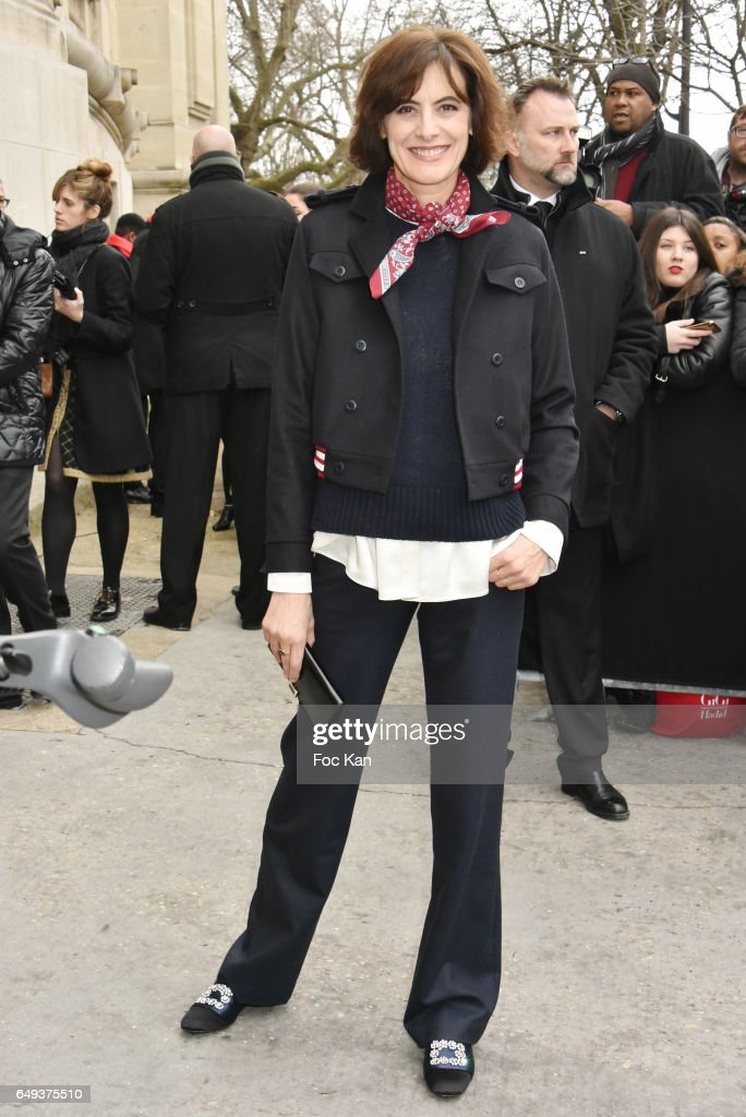 Ines de la Fressange attends the Chanel show as part of the Paris Fashion Week Womenswear Fall/Winter 2017/2018 on March 7, 2017 in Paris, France.
