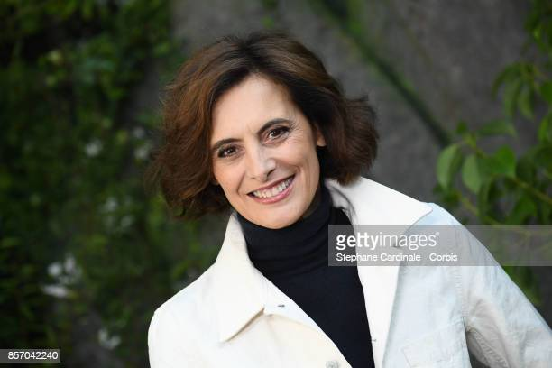 Ines de La Fressange attends the Chanel show as part of the Paris Fashion Week Womenswear Spring/Summer 2018 at on October 3 2017 in Paris France