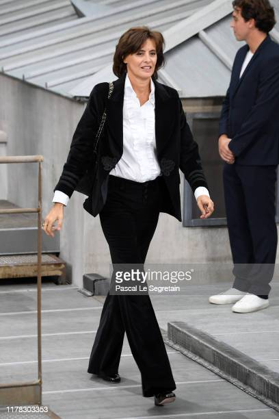 Ines de la Fressange attends the Chanel Womenswear Spring/Summer 2020 show as part of Paris Fashion Week on October 01 2019 in Paris France