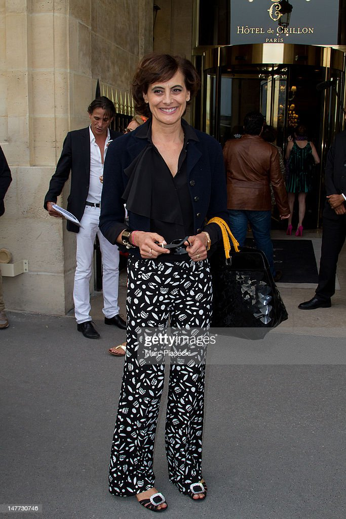 Ines de la Fressange attends the Giambattista Valli Haute-Couture Show as part of Paris Fashion Week Fall / Winter 2013 at Hotel Crillon on July 2, 2012 in Paris, France.