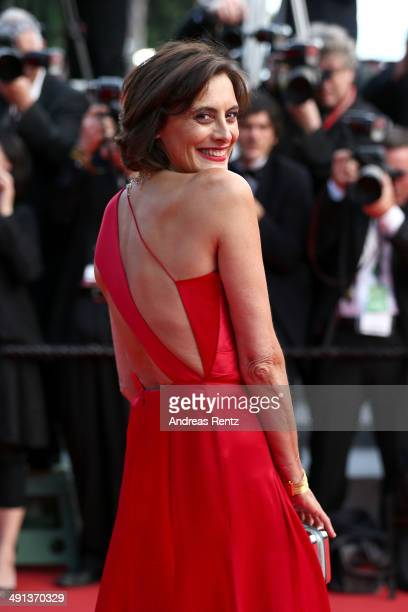 Ines de La Fressange attends the 'How To Train Your Dragon 2' premiere during the 67th Annual Cannes Film Festival on May 16 2014 in Cannes France