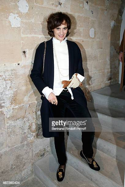 Ines de La Fressange attends the launch of Elie Top first 'Mechanique Celestre' collection at Gallerie Mitterrand on January 27 2015 in Paris France