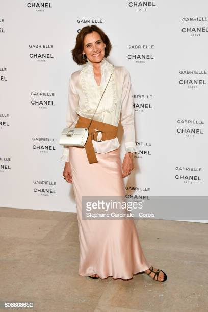 Ines de la Fressange attends the launch party for Chanel's new perfume Gabrielle as part of Paris Fashion Week on July 4 2017 in Paris France