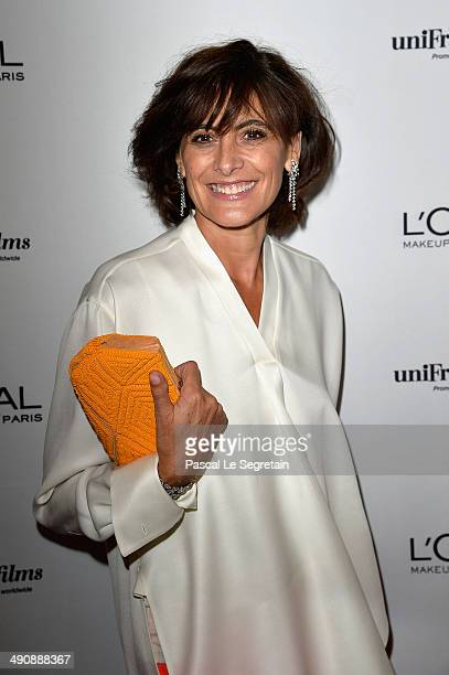 Ines de la Fressange attends the L'Oreal Unifrance Films 65th Anniversary Cocktaill at Hotel Martinez as part of the 67th Annual Cannes Film Festival...