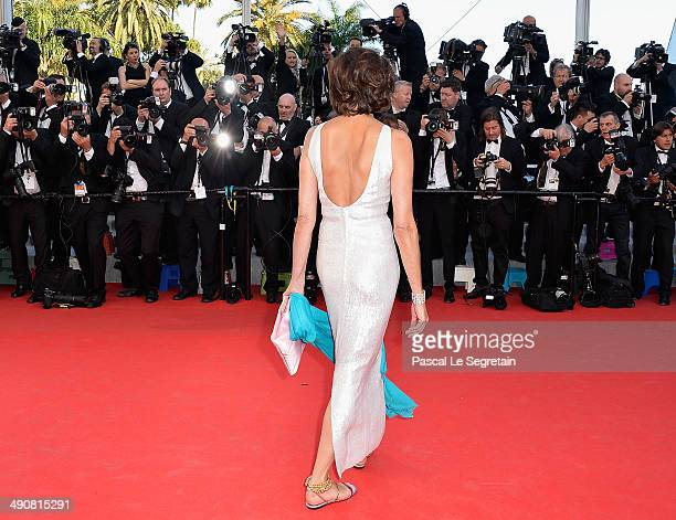 Ines de la Fressange attends the 'Mr Turner' premiere during the 67th Annual Cannes Film Festival on May 15 2014 in Cannes France