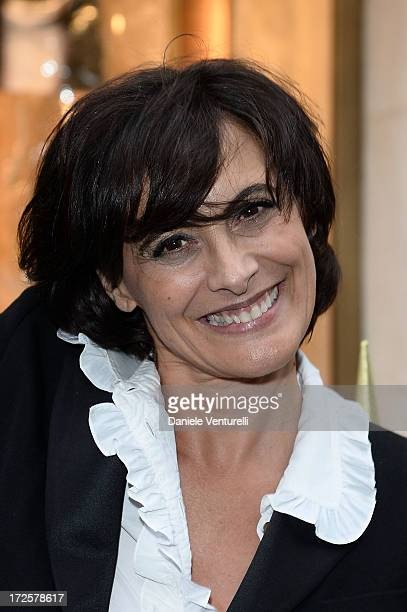 Ines de la Fressange attends the opening of Fendi's new boutique at 51 Avenue Montaine on July 3 2013 in Paris France