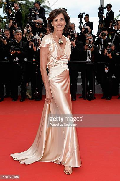 Ines de la Fressange attends the Premiere of 'Irrational Man' during the 68th annual Cannes Film Festival on May 15 2015 in Cannes France