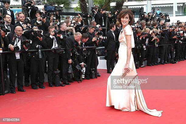 Ines de la Fressange attends the Premiere of Irrational Man during the 68th annual Cannes Film Festival on May 15 2015 in Cannes France